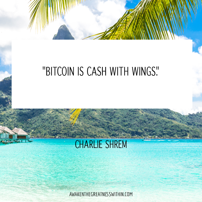 Bitcoin is cash with wings