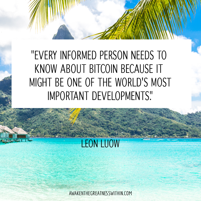 Every informed person needs to know about Bitcoin because it might be one of the world's most important developments